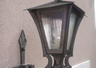 kovová lampa - kovářství tomšej